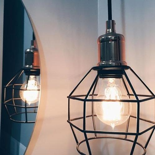 Pendente+ Lampada Led Filamento A60 E27 4w Bq Bivolt