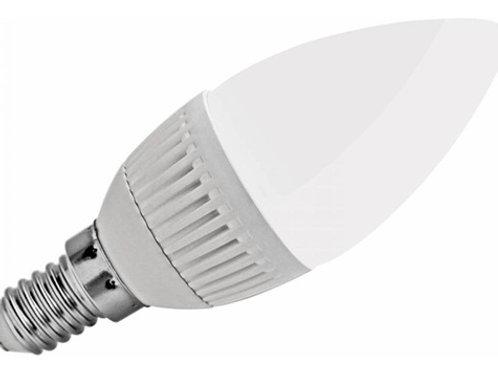 12 Lampadas Led Vela Leitosa E14 5w Branco Frio Bivolt