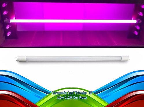 Lamp Led Tubular T8 18w 1,20 Cm Rosa+1 Tubular Azul T8 18w