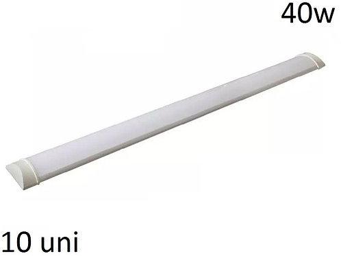 10 Luminaria Tubular 36w Sobr Bf Linear 1,20cm Calha