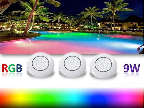 3 Luminarias Para Piscina Led 9w 12v Rgb