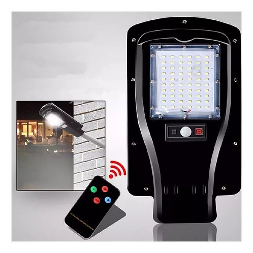 6 Luminaria Public Led 100% 30w Solar Cont.remoto Bf P/poste