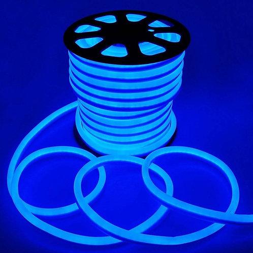 Mangueira De Led Flexivel Neon 220v Com 100mt Az+ Conector