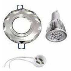 Spot Espelhado Bisote+ Lamp Dicroica 5w Bq+ Soquete Gu10