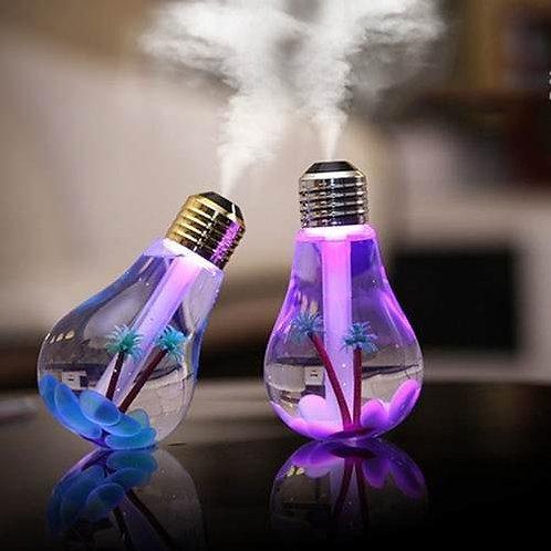 Lampada Led Umidificador De Ar E Aromatizador