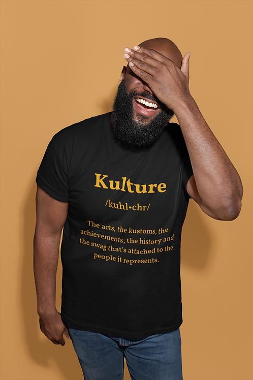 Kulture Statement Tee (Black + Gold)