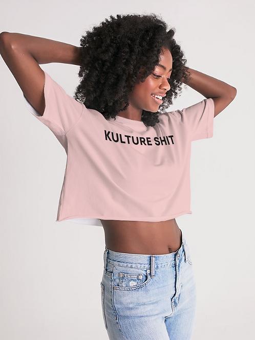 Kulture Shit Crop Top - Pink