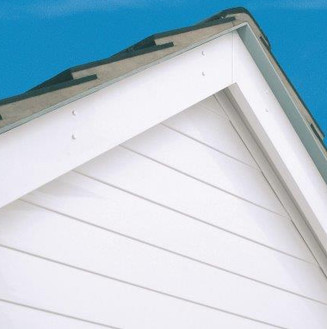 White PVC Feathered Edge External Cladding