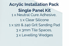 Acrylic Installation Pack Single PanelPanel