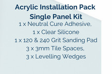 Acrylic Installation Pack Single PanelPanel