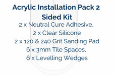 Acrylic Installation Pack 2 Sided KitKit