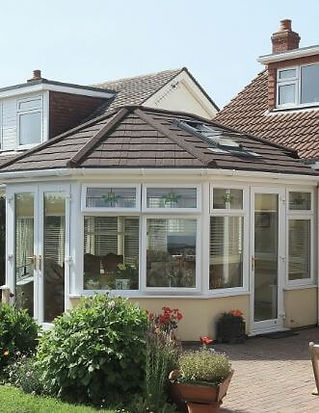 Tiled Converatory Roof Supalite with Extralight roof tiles in walnut