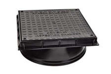 Chambers, Risers & Lids320mmSquare Inspection Chamber Cover And FrameBlack