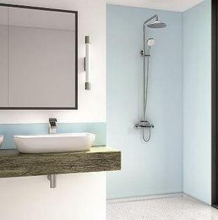 Blue Mist Acrylic Shower Panel - Wetwall