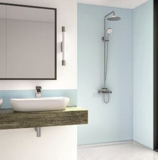 Blue Mist Acrylic Shower Panel - Wetwall