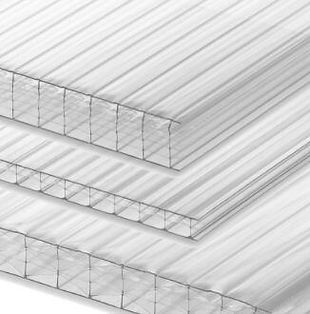 Clear Mulitwall Polycarbonate sheeting