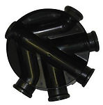 Chambers, Risers & Lids450mmInspection Chamber Base 110mm OutletBlack