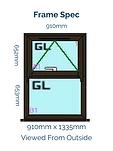 Optima Horned Casement Window - 910mm x 1335mm - Black Brown