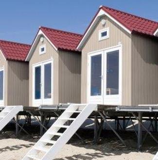 Cedar Durasid Natural Sidings Cladding on Beach Huts