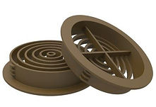 Soffit Board 70mm Disc VentilatorBrown