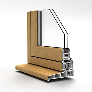 Flush Casement Window In Irish Oak