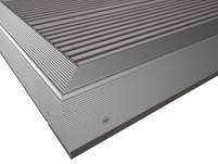 Aluminium F Section/ Kickplate Silver