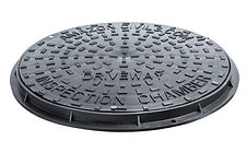 Chambers, Risers & Lids450mmRound Mnahoe Cover And FrameBlack