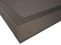 Aluminium F Section/ Kickplate Brown