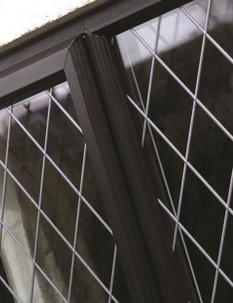 PVC Fully Sculptured Casement Window In Black