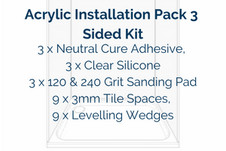 Acrylic Installation Pack 3 Sided KitKit