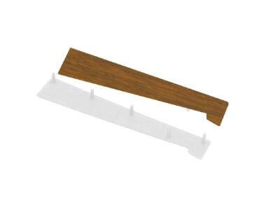 Universal End Cap For External Cill 70mm Platform Light Oak