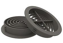 Soffit Board 70mm Disc VentilatorAnthracite Grey
