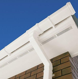 UPVC Vented Soffit Board White