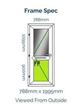 White Odd Leg Pvc Door Profile 22