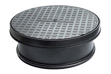 Chambers, Risers & Lids320mm Round Manhole Cover And FrameBlack