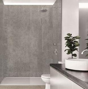 Wetwall Dark Stone Laminate Shower Panels