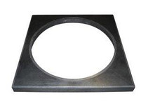 Chambers, Risers & Lids320mm Round To Square Cover AdaptorBlack