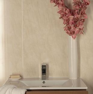 Romano-Beige-250mm-Marbrex-wall-panel-in-situ