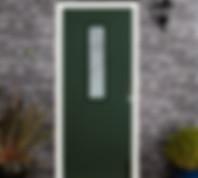 Endurance Composite door in racing green