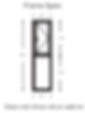 WarmCore Casement Window 610mm x 2400mm - Triple Glazed - Anthracite Grey spec