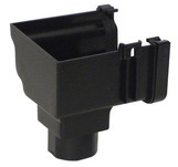 GutterOgee Stopend Outlet Right HandCast Black