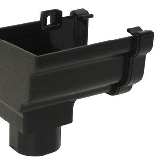 Ogee Cast Iron Effect Guttering Outlet