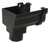 GutterOgee Stopend Outlet Left HandCast Black