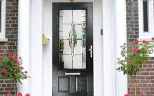 Composite Door Black With Glass
