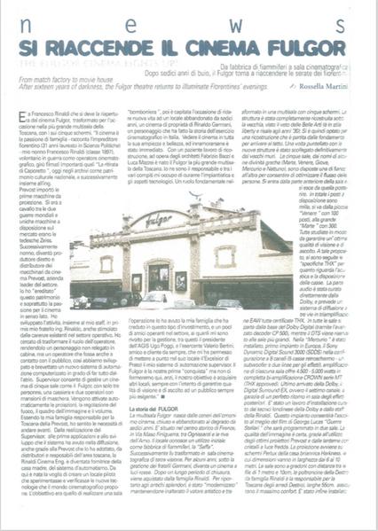 Pubblicazione su 'Multisala International'