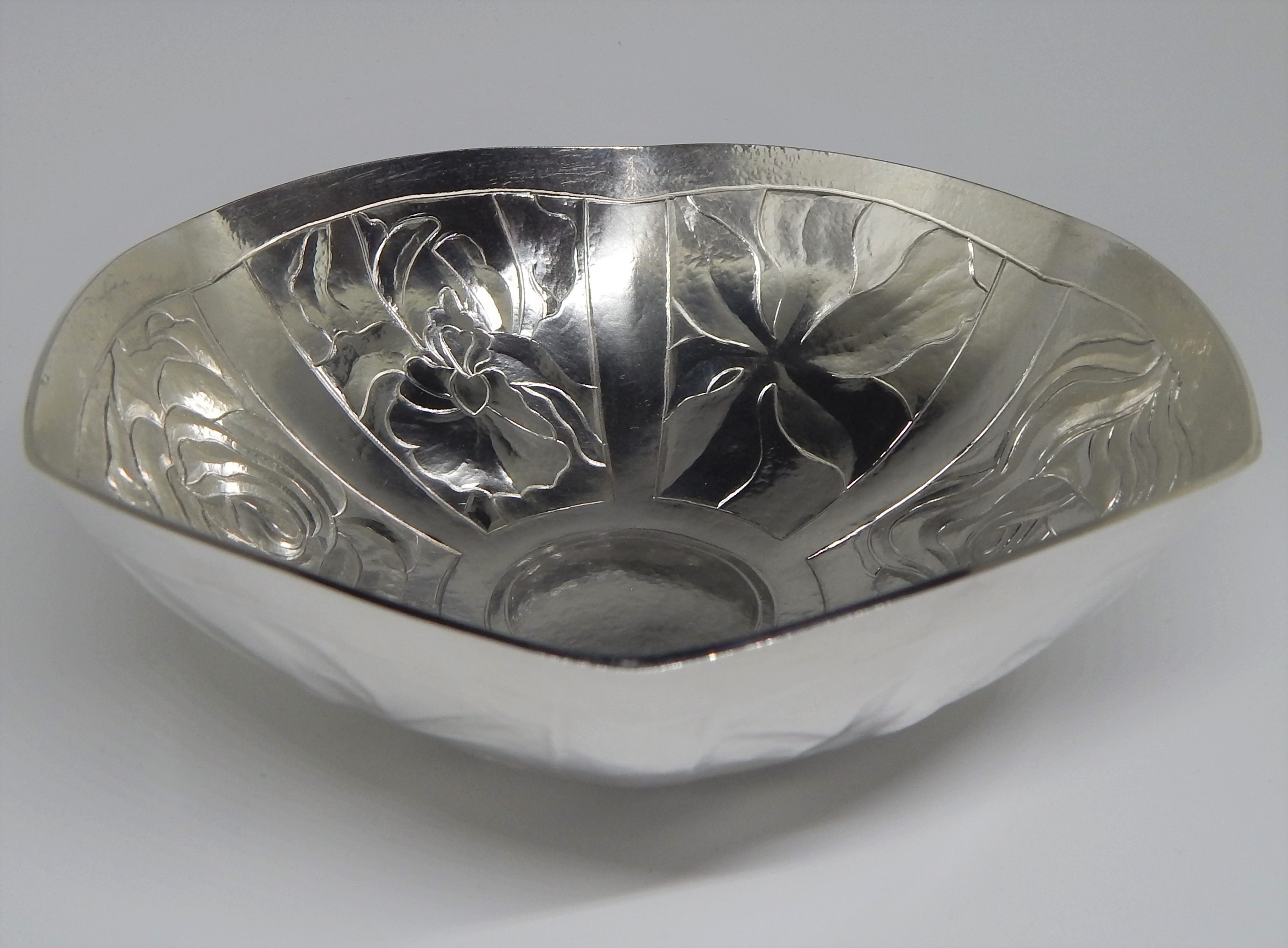 Chased Silver Bowl