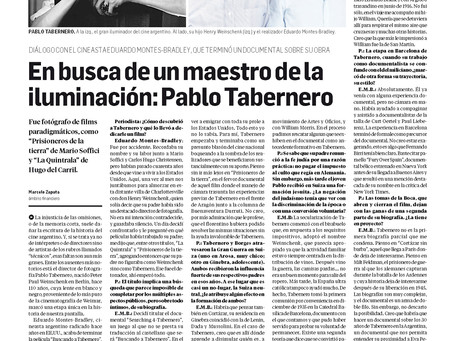 In Search of a Master in Cinematography: PABLO TABERNERO