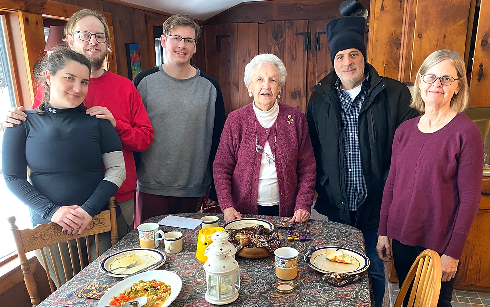 A breakfast meeting with Alice and friends in Hawley, Massachusetts