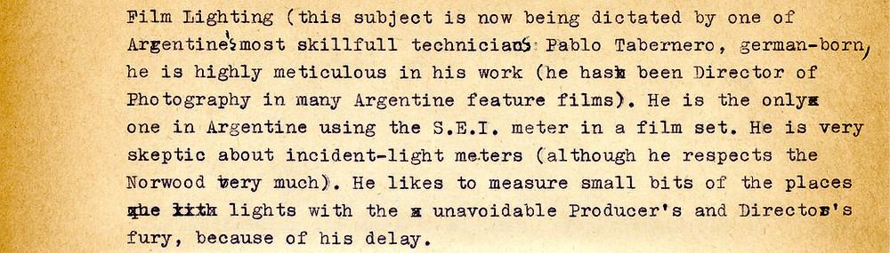 En estas líneas, Comesaña introduce el nombre de Pablo Tabernero en relación a su labor como profesor en la Universidad de La Plata.