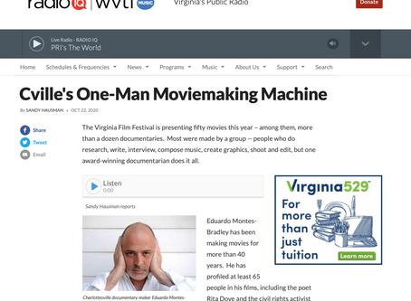 NPR   Cville's One-Man Moviemaking Machine
